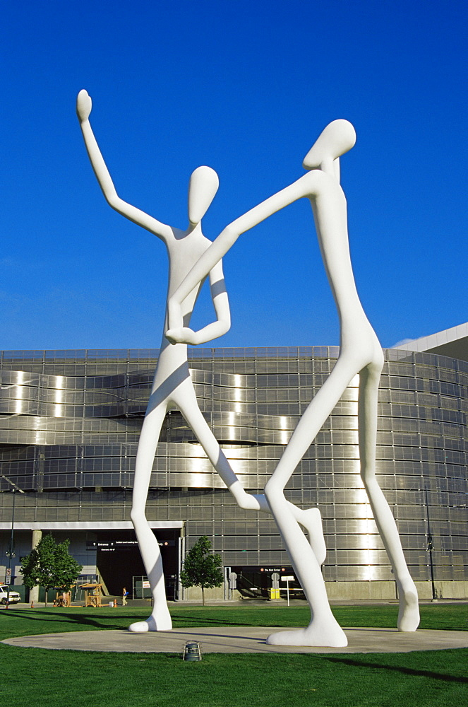 Dancers by J. Borofsky, Performing Arts Complex, Downtown, Denver, Colorado, United States of America, North America