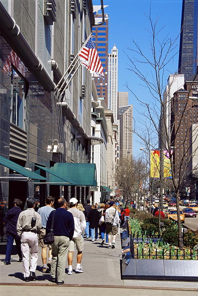 Magnificent Mile, Michigan Avenue, Chicago, Illinois, United States of America, North America
