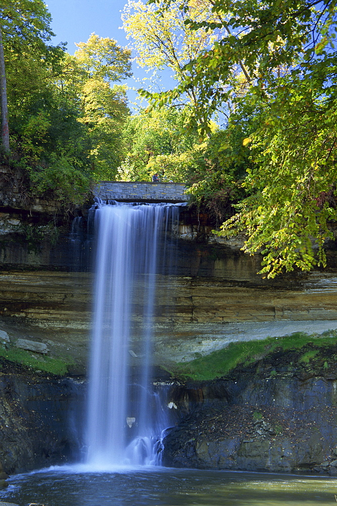Minnehaha Waterfall, Minneapolis, Minnesota, United States of America, North America