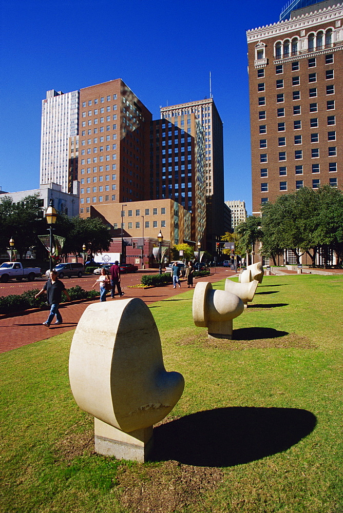 General Worth Square, Downtown Fort Worth, Texas, United States of America, North America
