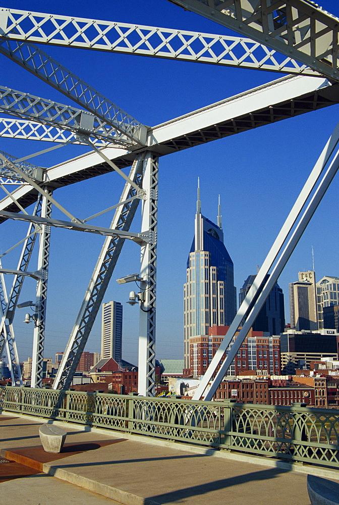 Shelby Street Pedestrian Bridge, Nashville, Tennessee, United States of America, North America