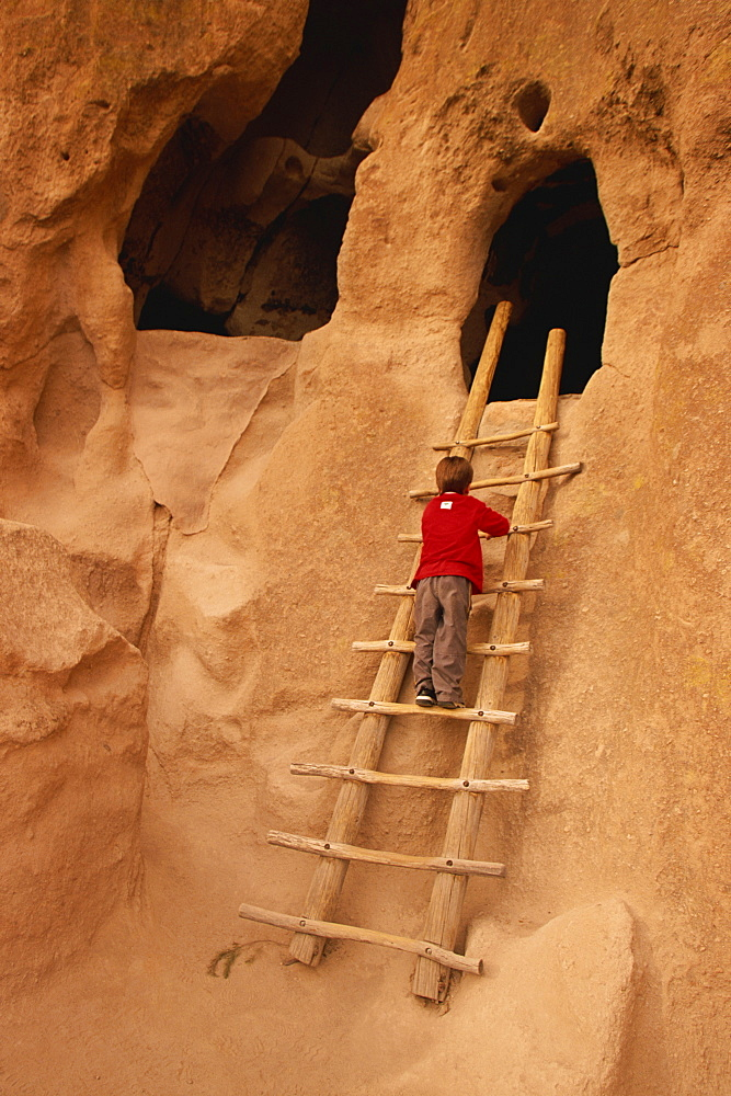 Cave rooms, Bandelier National Monument, New Mexico, United States of America, North America