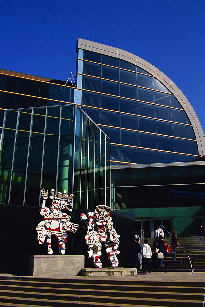 Perceval by Jean Dubuffet, Kentucky Center, downtown Louisville, Kentucky, United States of America, North America