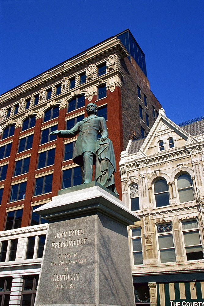 John Cabell Breckenridge statue, Fayette County Courthouse, Lexington, Kentucky, United States of America, North America
