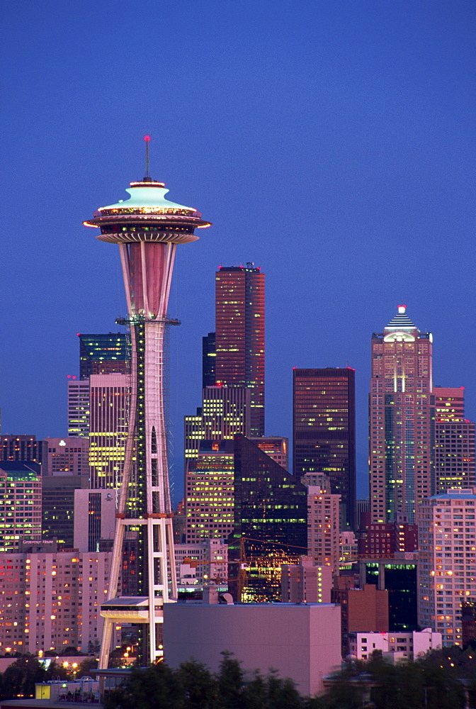 City skyline from Kerry Park Viewpoint, Seattle, Washington state, United States of America, North America