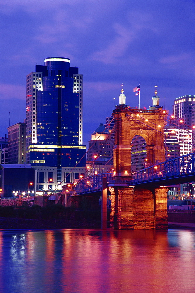 Roebling Suspension Bridge, Cincinnati, Ohio, United States of America, North America