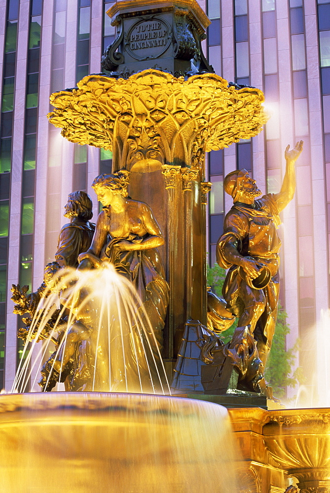 Tyler Davidson fountain, Fountain Square, Cincinnati, Ohio, United States of America, North America