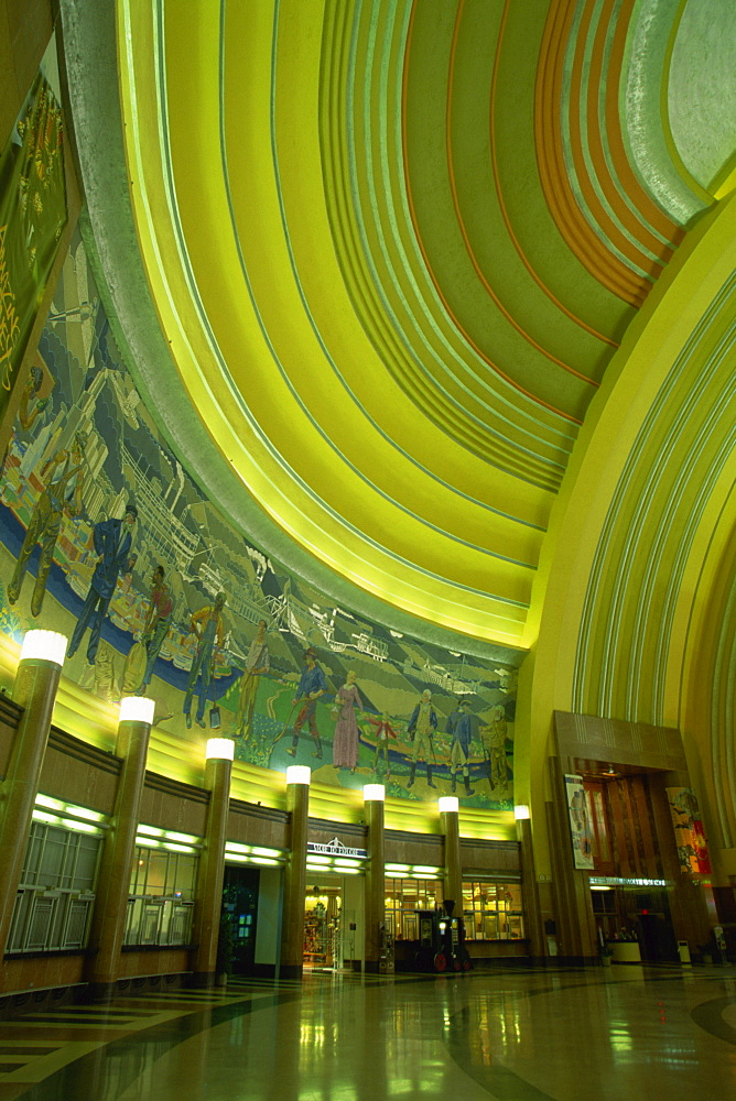 Lobby of Cincinnati Museum Center, Cincinnati, Ohio, United States of America, North America