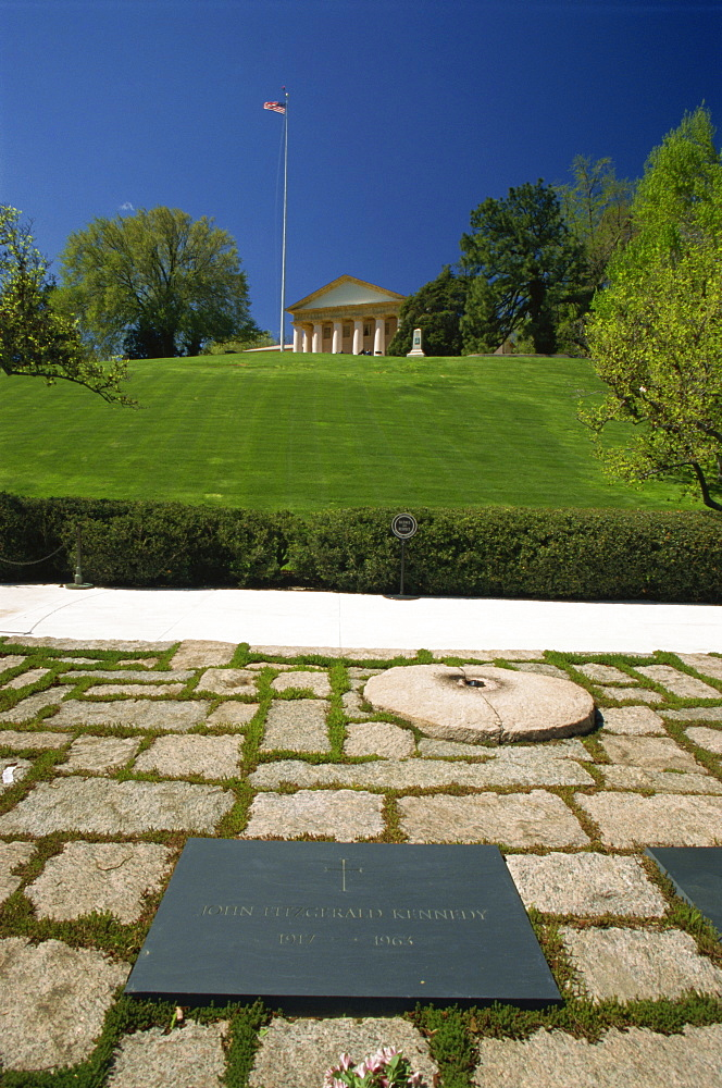 John F. Kennedy's grave, Arlington National Cemetery, Washington D.C., United States of America, North America