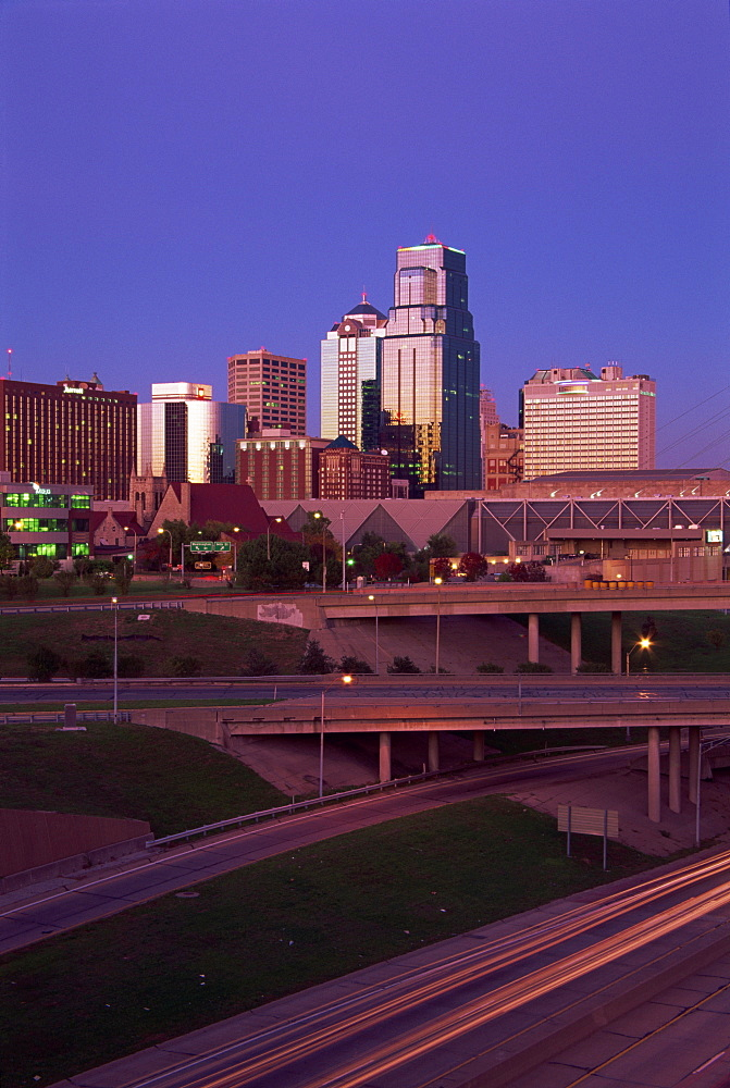 City skyline, Kansas City, Missouri, United States of America, North America