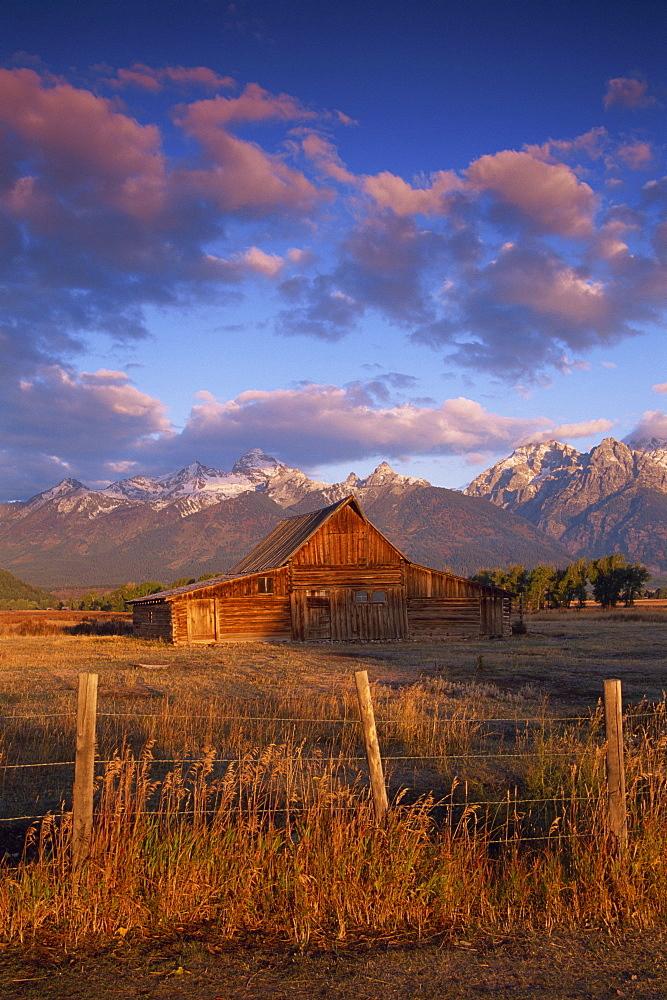 Barn in Mormon Row, Grand Teton National Park, Wyoming, United States of America, North America