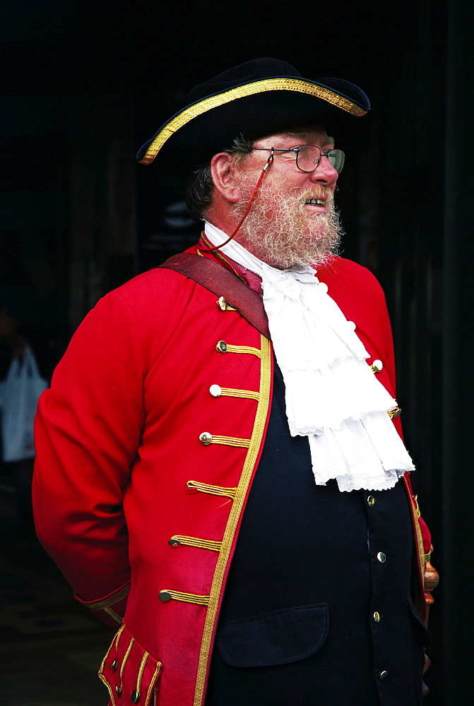 Town crier, Christchurch, Canterbury, South Island, New Zealand, Pacific