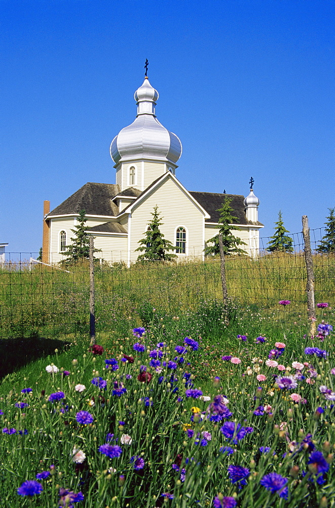 St. Vladimir's church, Ukrainian Heritage Village, Greater Edmonton area, Alberta, Canada, North America