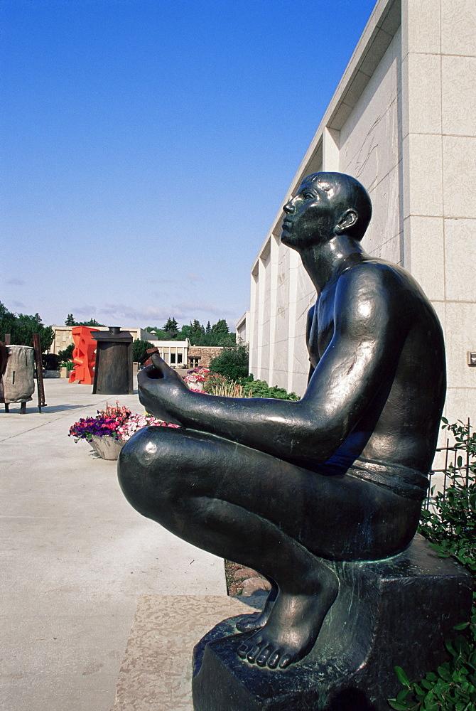 Sculpture Garden, Provincial Museum, Edmonton, Alberta, Canada, North America