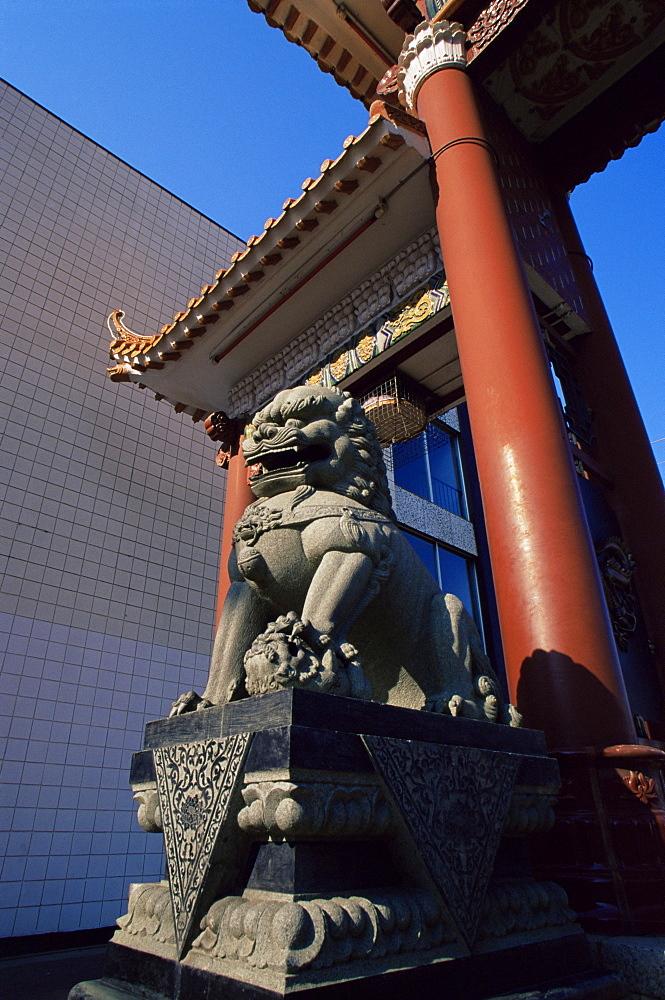 Chinatown gate, Edmonton, Alberta, Canada, North America