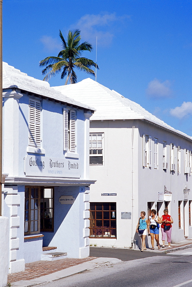Stores on York Street, St. George, Bermuda, Central America
