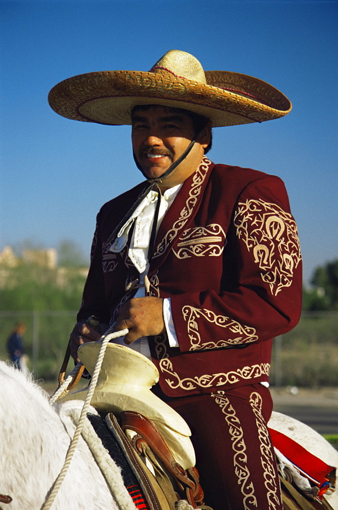 Mexican rider, Tucson Rodeo parade, Tucson, Arizona, United States of America, North America
