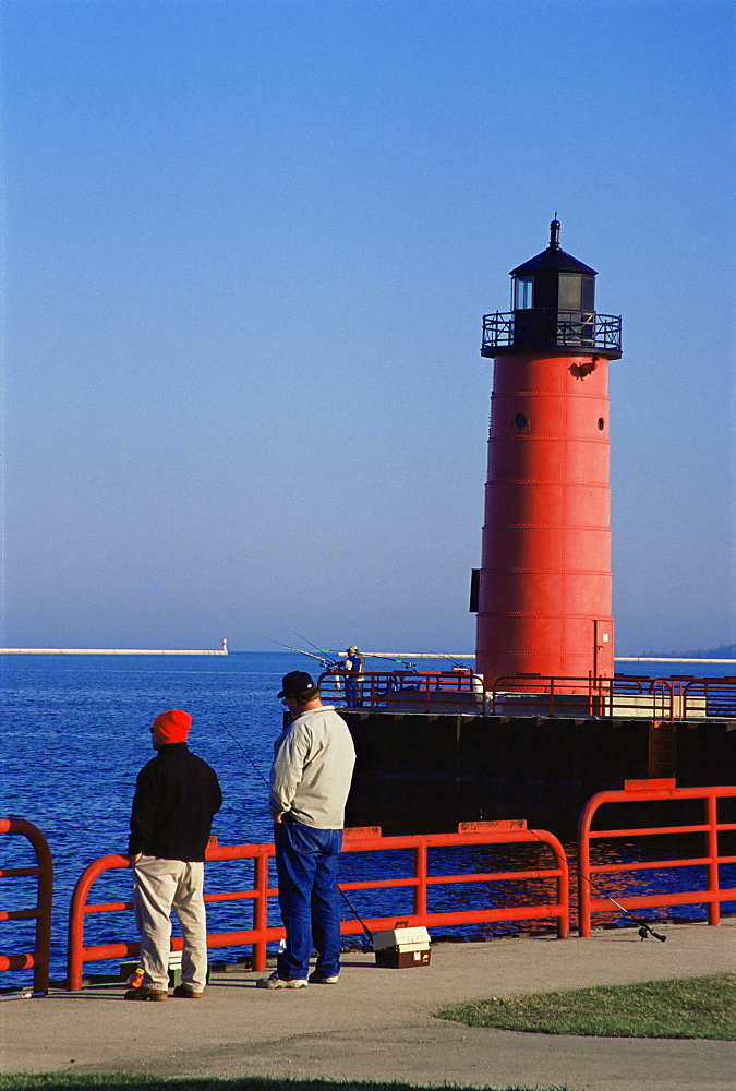 Milwaukee Pierhead lighthouse, Milwaukee, Wisconsin, United States of America, North America