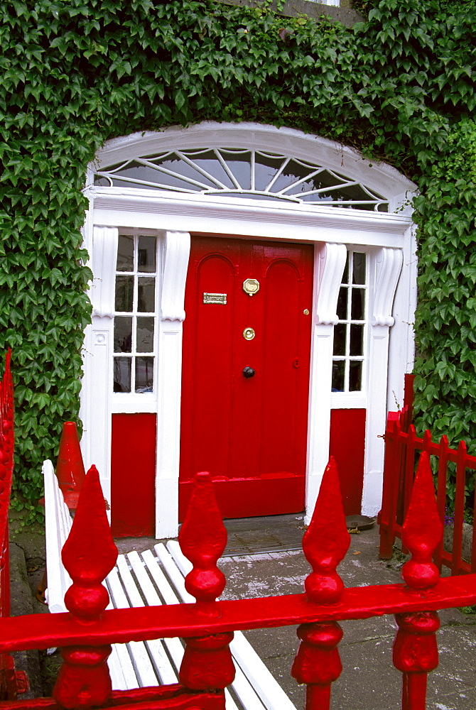 Georgian doorway, Town of Westport, County Mayo, Connacht, Republic of Ireland, Europe