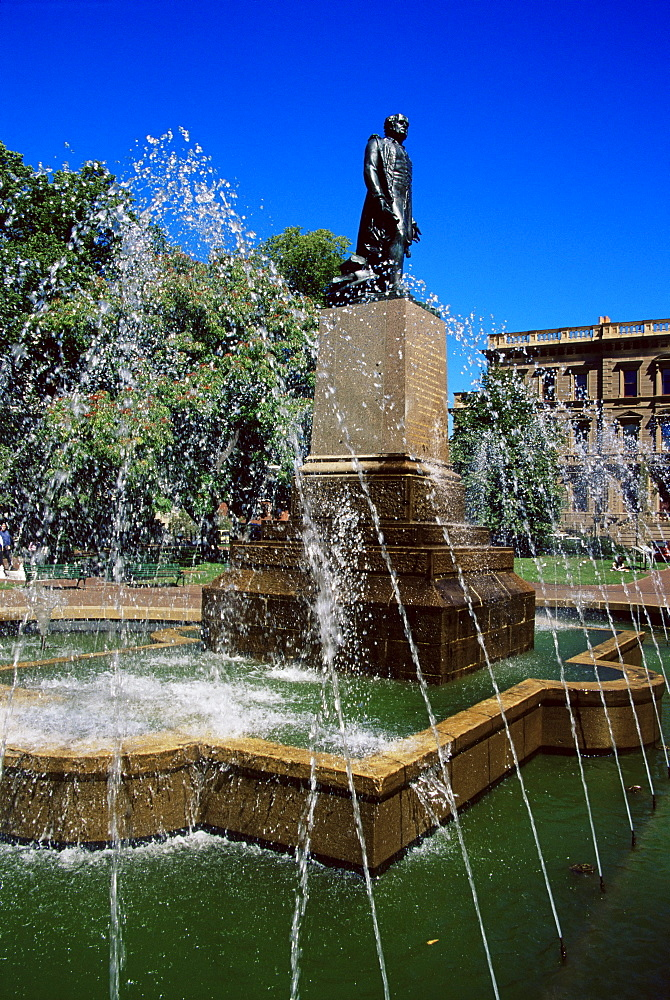 Fountain at Franklin Square, Hobart, Tasmania, Australia, Pacific