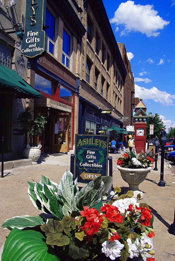 Old market district, Omaha, Nebraska, United States of America, North America