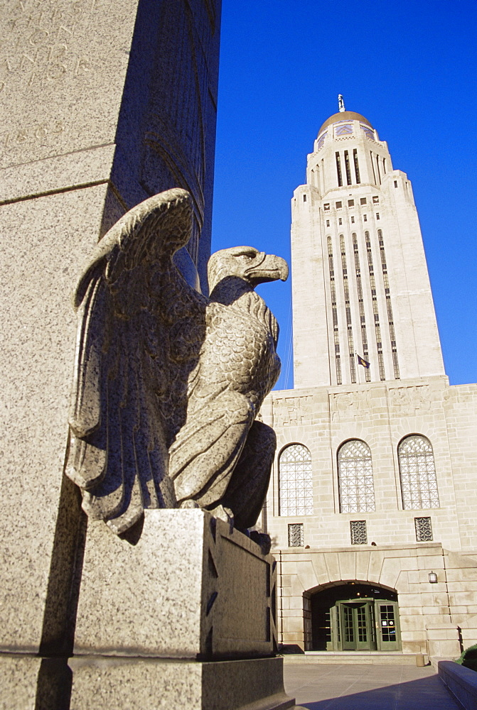 State Capitol Building, Lincoln, Nebraska, United States of America, North America