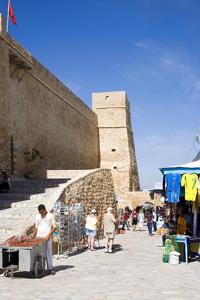 Medina wall, Hammamet, Tunisia, North Africa, Africa - 783-1