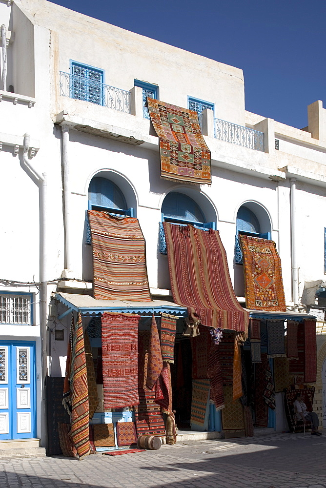 Carpet shop in the Medina, Kairouan, Tunisia, North Africa, Africa - 783-14