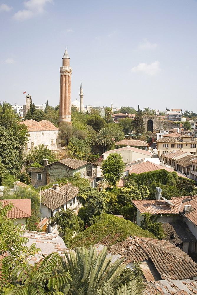 Old Town, above the old harbour, Antalya, Anatolia, Turkey, Asia Minor, Eurasia - 783-63