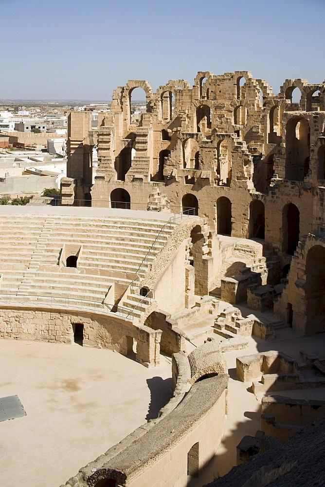 Amphitheatre, El Jem (El Djem), UNESCO World Heritage Site, Tunisia, North Africa, Africa - 783-7