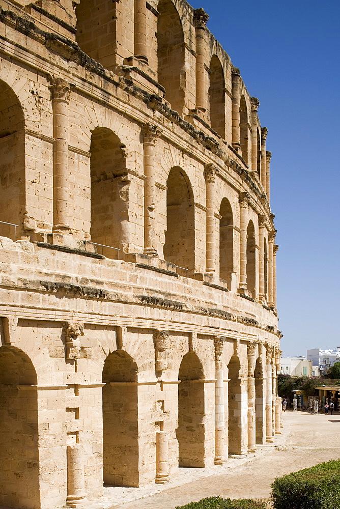 Amphitheatre, El Jem (El Djem), UNESCO World Heritage Site, Tunisia, North Africa, Africa - 783-8