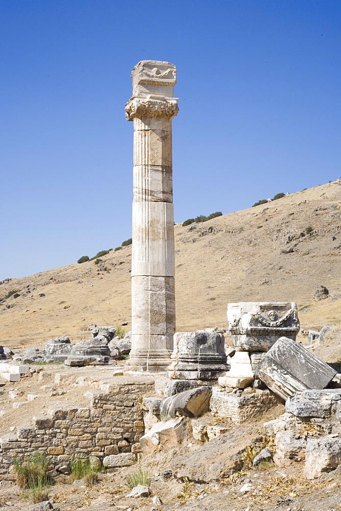 Archaeological site of Hierapolis, Pamukkale, UNESCO World Heritage Site, Anatolia, Turkey, Asia Minor, Eurasia - 783-99