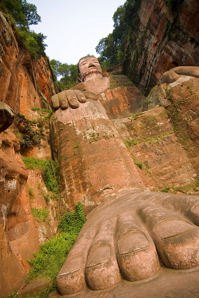 Giant Buddha, UNESCO World Heritage Site, Leshan, Sichuan, China, Asia - 784-22
