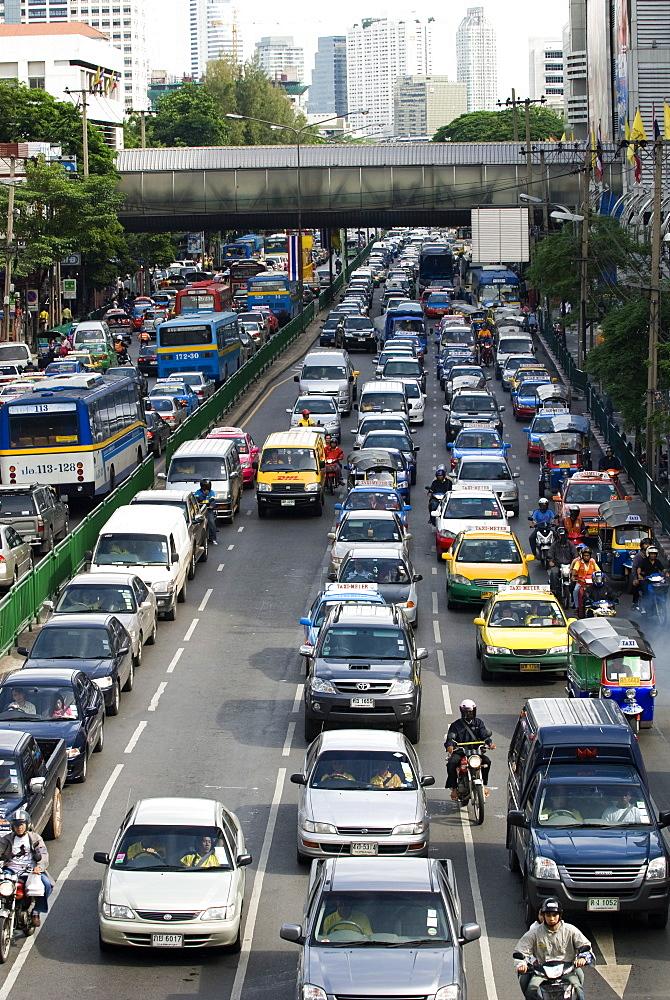 Traffic, Bangkok, Thailand, Southeast Asia, Asia - 784-222