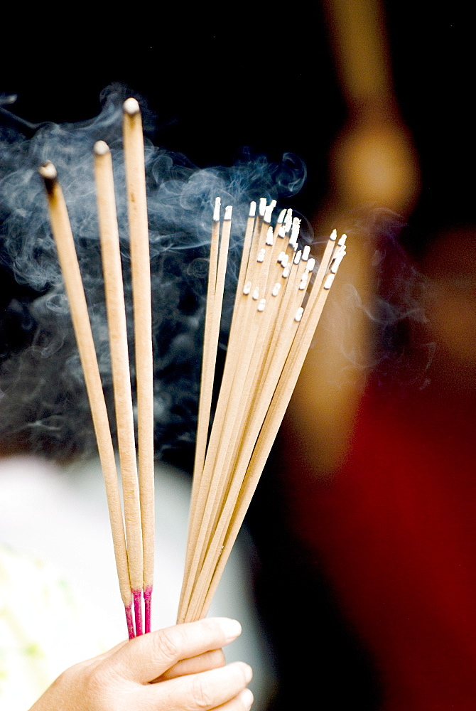 Incense sticks, Chinese moon festival, Georgetown, Penang, Malaysia, Southeast Asia, Asia - 784-288
