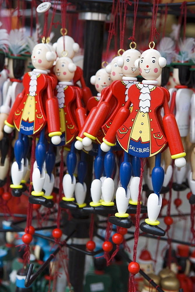 Mozart puppets, souvenirs, Salzburg, Austria, Europe