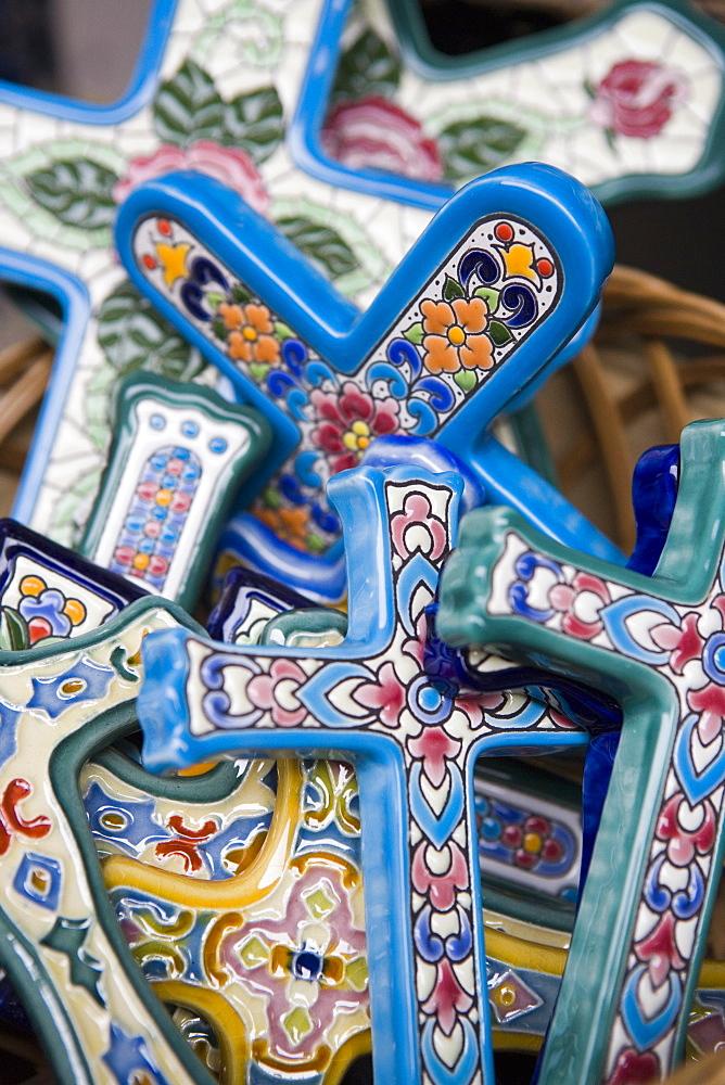 crosses, souveniers,Valencia, Mediterranean, Costa del Azahar, Spain, Europe - 785-876