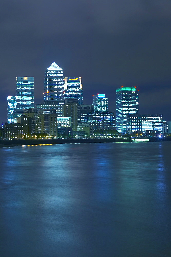 Canary Wharf, Docklands, viewed from Wapping, London, England, United Kingdom, Europe - 790-2