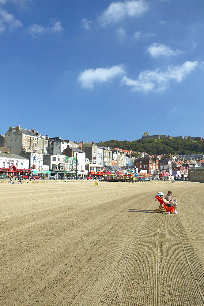 Scarborough Beach, Scarborough, North Yorkshire, England, United Kingdom, Europe - 790-24
