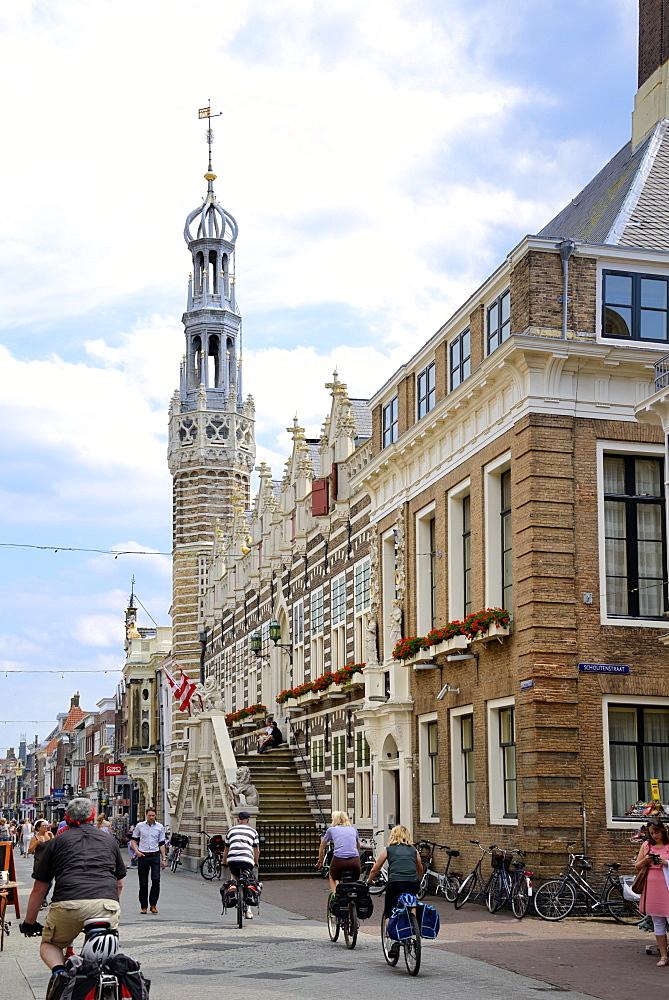 Stadhuis (Town Hall), Langestraat, Alkmaar, North Holland, Netherlands, Europe - 792-762