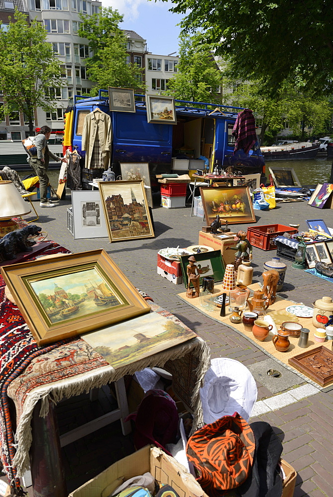 Waterlooplein Flea Market, Amsterdam, North Holland, Netherlands, Europe