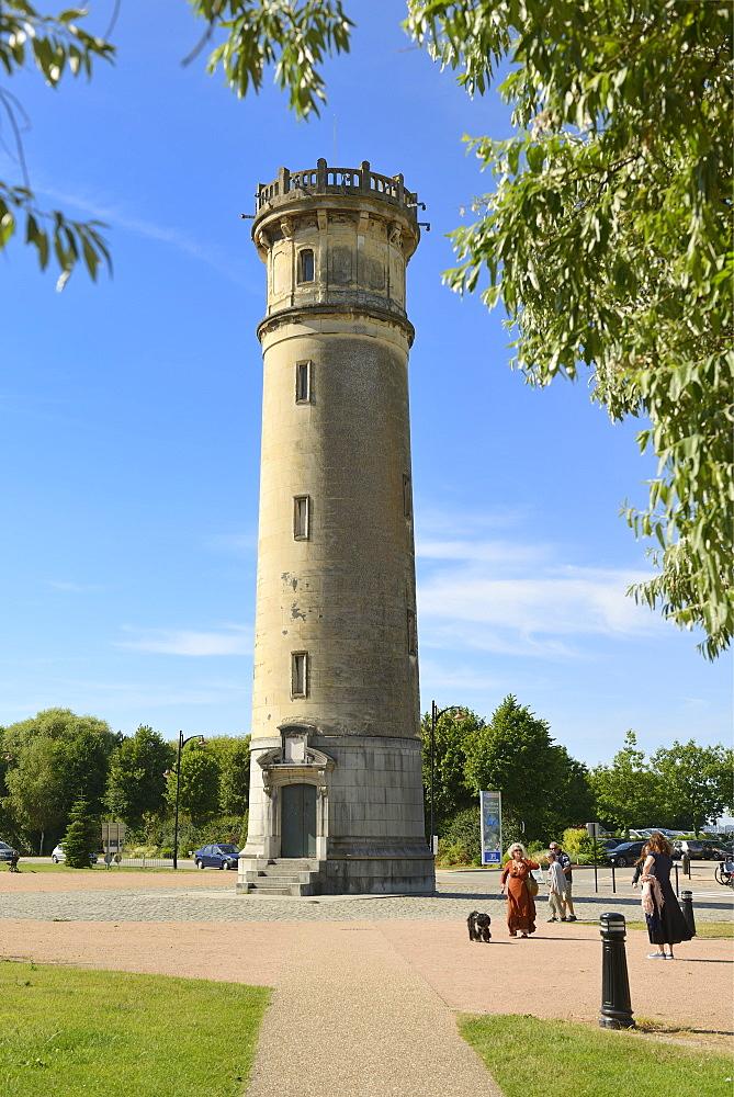 Vieux Phare de Honfleur, Lighthouse, Boulevard Charles V, Honfleur, Calvados, Basse Normandie, Normandy, France, Europe - 792-872