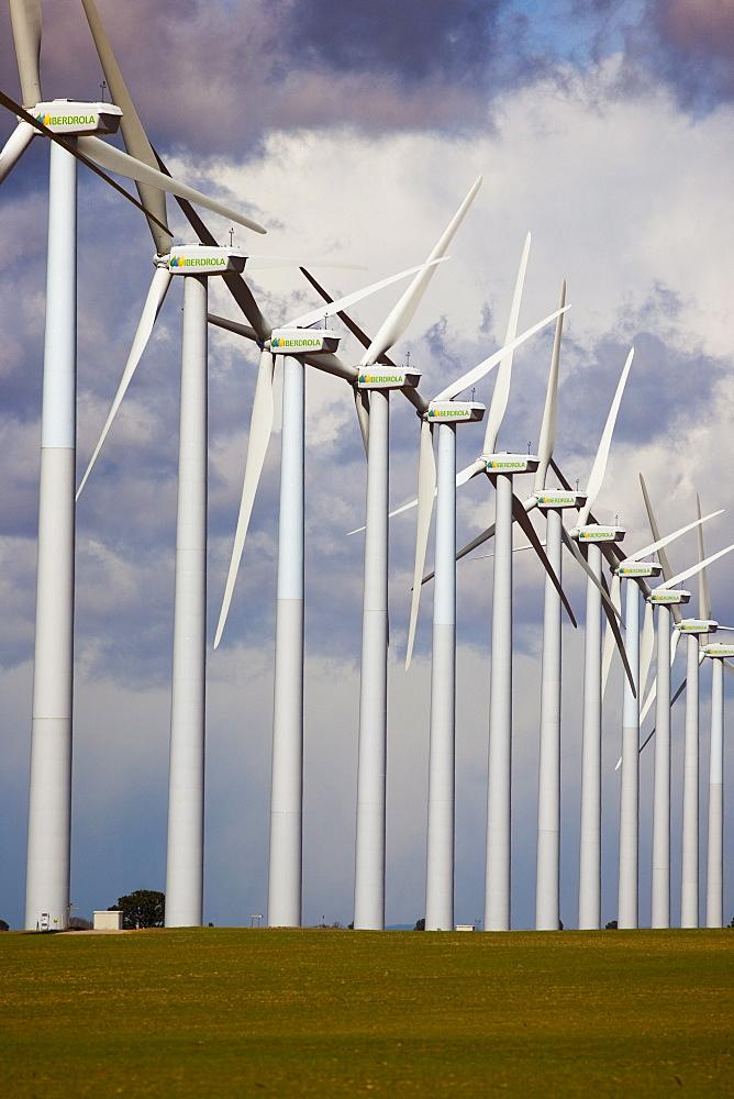 Wind turbines, Albacete, Castilla-La Mancha, Spain, Europe - 793-1008
