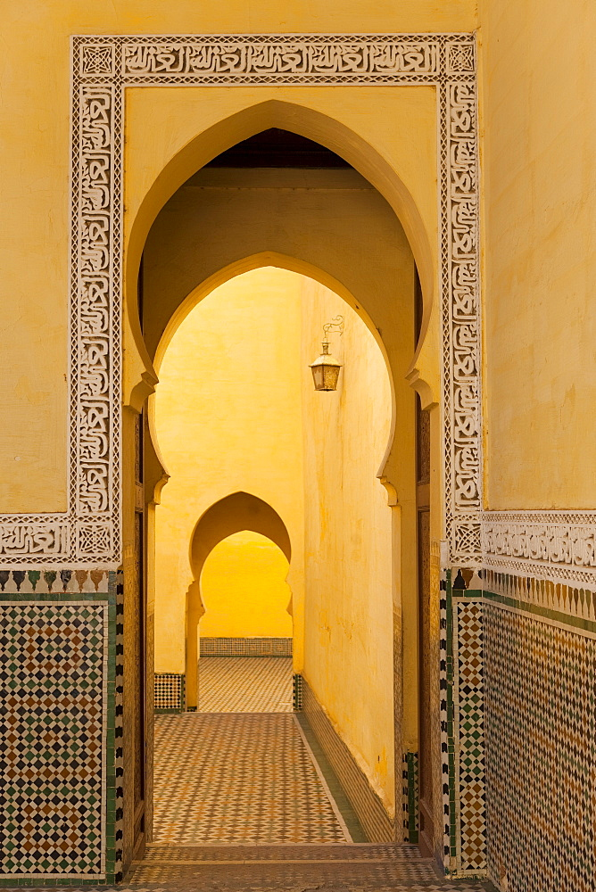 Mausoleum of Moulay Ismail, Meknes, Morocco, North Africa, Africa - 793-1036