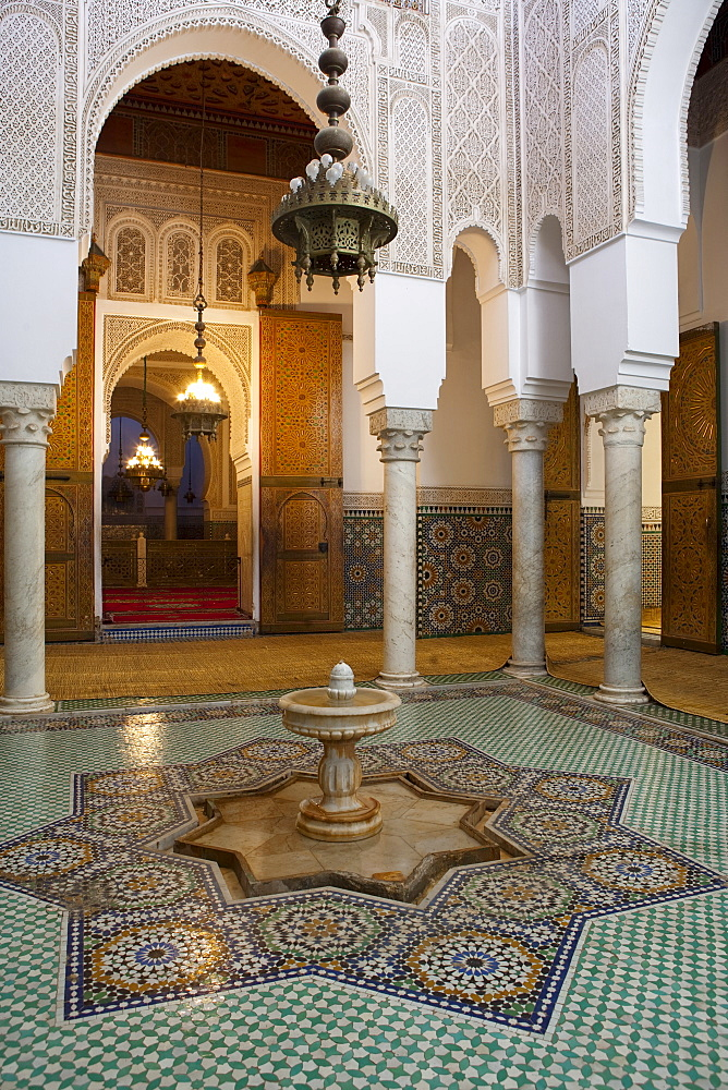 Mausoleum of Moulay Ismail, Meknes, UNESCO World Heritage Site, Morocco, North Africa, Africa - 793-1039