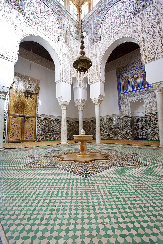 Mausoleum of Moulay Ismail, Meknes, UNESCO World Heritage Site, Morocco, North Africa, Africa - 793-1040