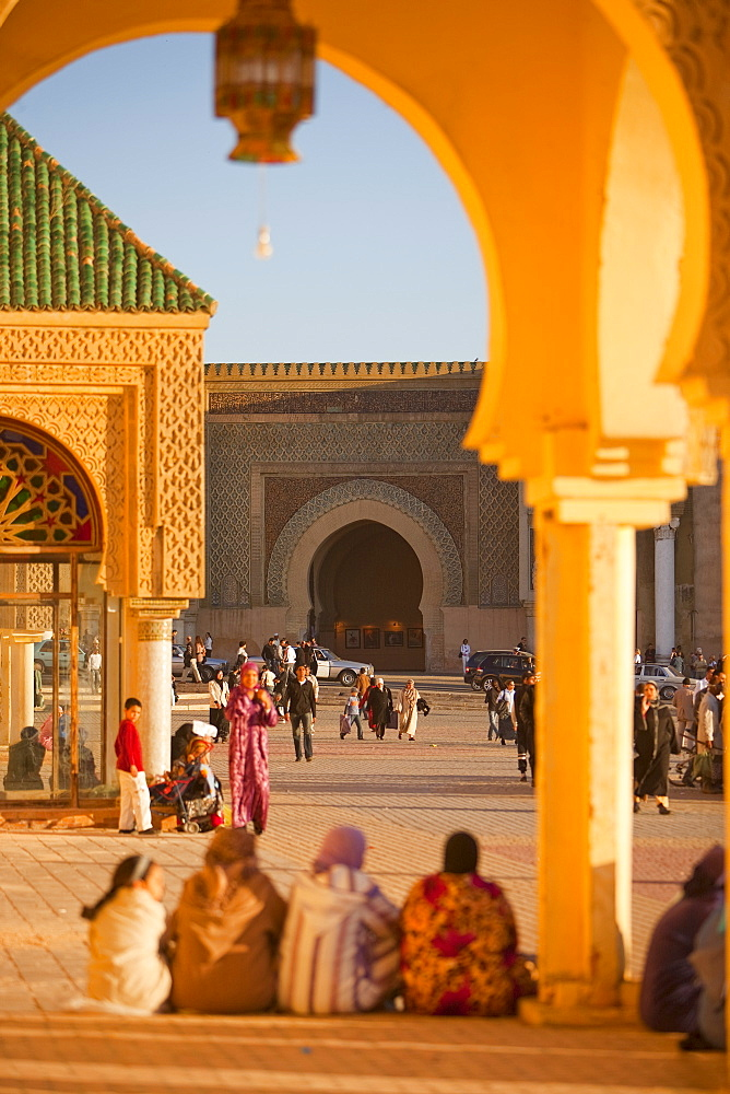 Place el Hedim, Bab Mansour, Meknes, UNESCO World Heritage Site, Morocco, North Africa, Africa - 793-1045