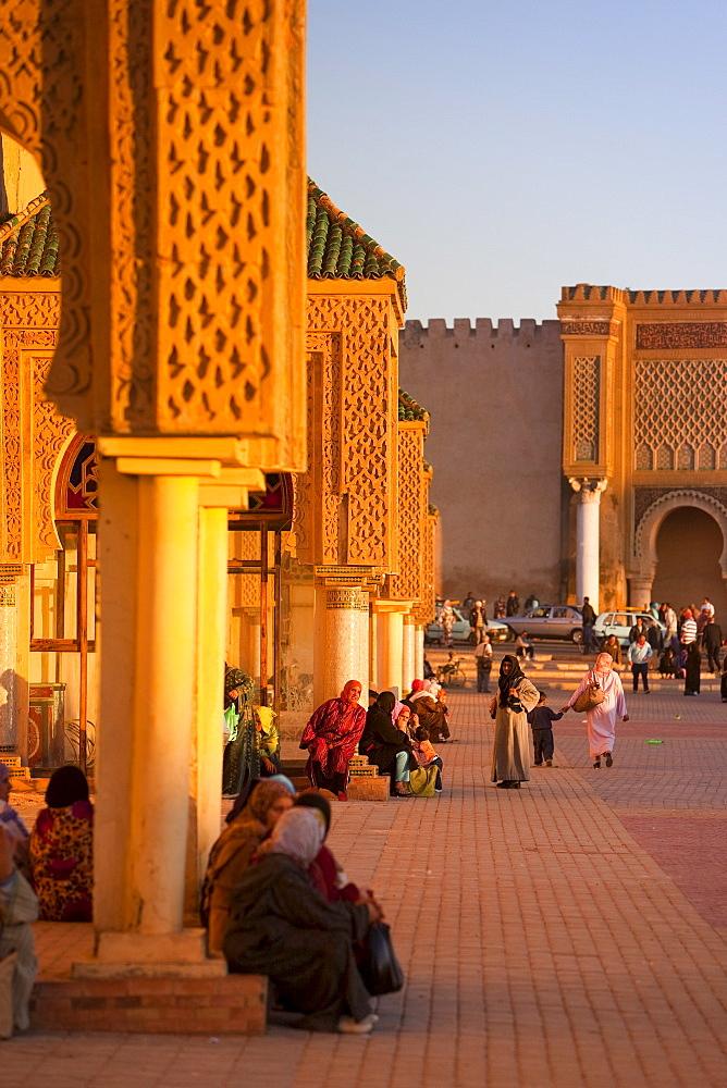 Place el Hedim, Meknes, UNESCO World Heritage Site, Morocco, North Africa, Africa - 793-1046