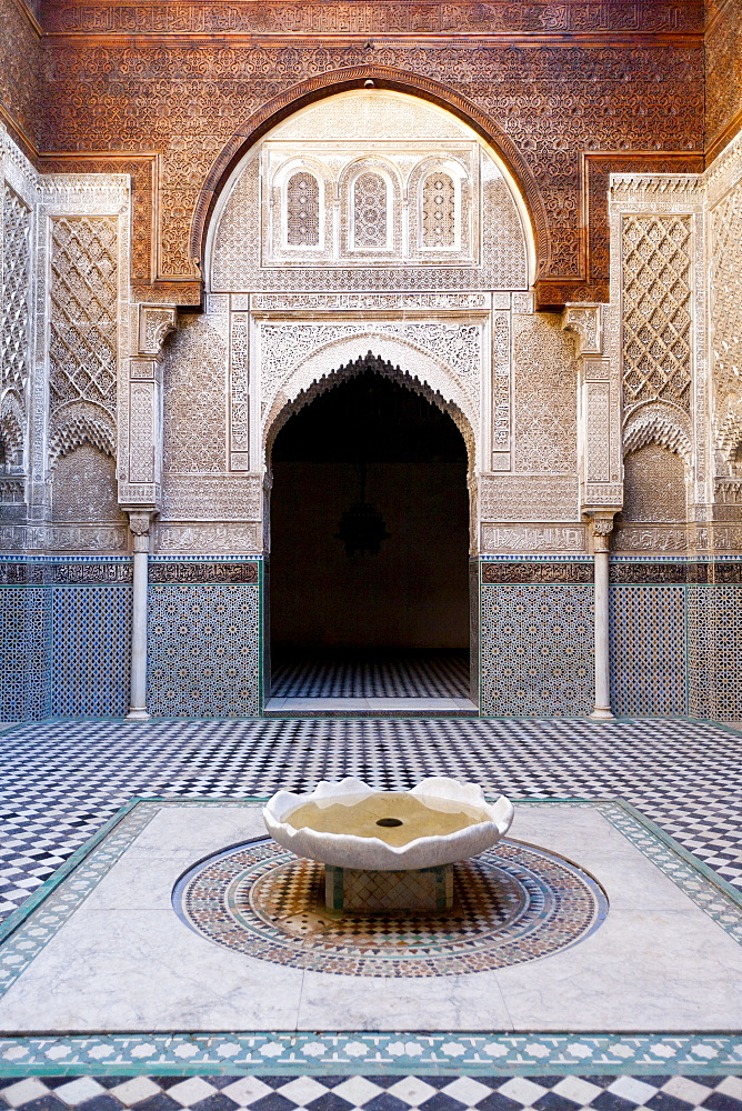 Attarine Madrasah, Fez, UNESCO World Heritage Site, Morocco, North Africa, Africa