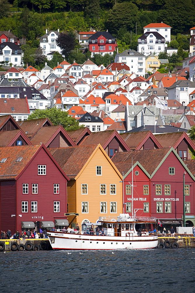 Bryggen, UNESCO World Heritage Site, Bergen, Hordaland, Norway, Scandinavia, Europe - 793-1079
